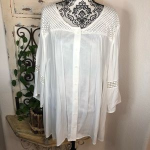 Cathrines white boho beach blouse